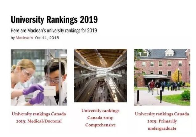 2019麦考林加拿大大学最新排名发布,多大与麦吉尔并列第一!