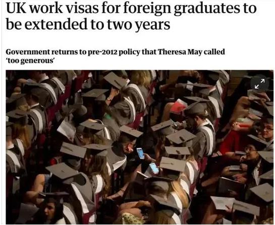 英国PSW签证回归,2020/21新生毕业后可留英两年!
