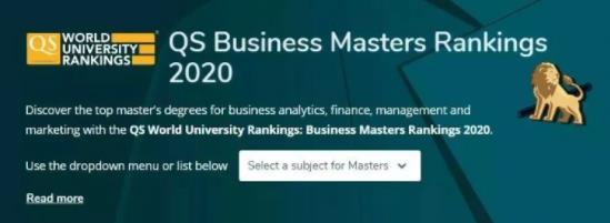 2020QS全球MBA和商科硕士排名公布,NUS、NTU上榜亚洲TOP10!
