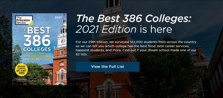 """2021年《普林斯顿评论》美国大学排名发布,""""最有用""""的美国高校排名来了!"""