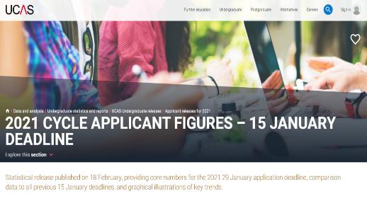 UCAS更新2021年英国本科申请数据:中国学生申请人数暴增21%!