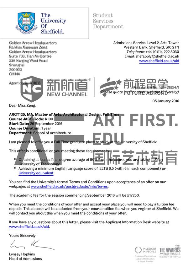 精准选校+优质作品,终获谢菲尔德大学建筑设计专业offer!