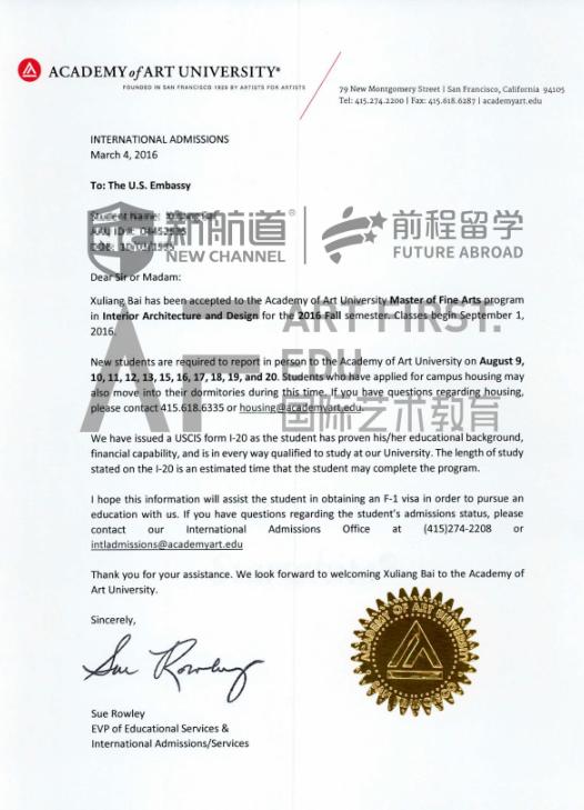 明确专业目标,成功获得艺术中心设计学院景观建筑专业offer!