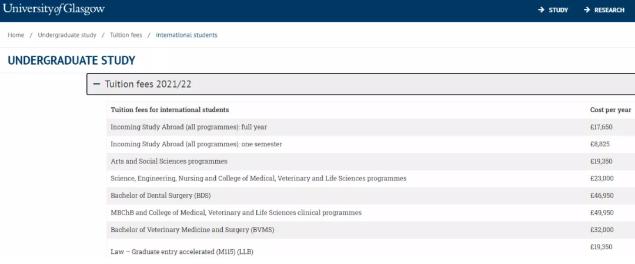 英国大学本科留学费用情况介绍:学费&生活费大概花多少?